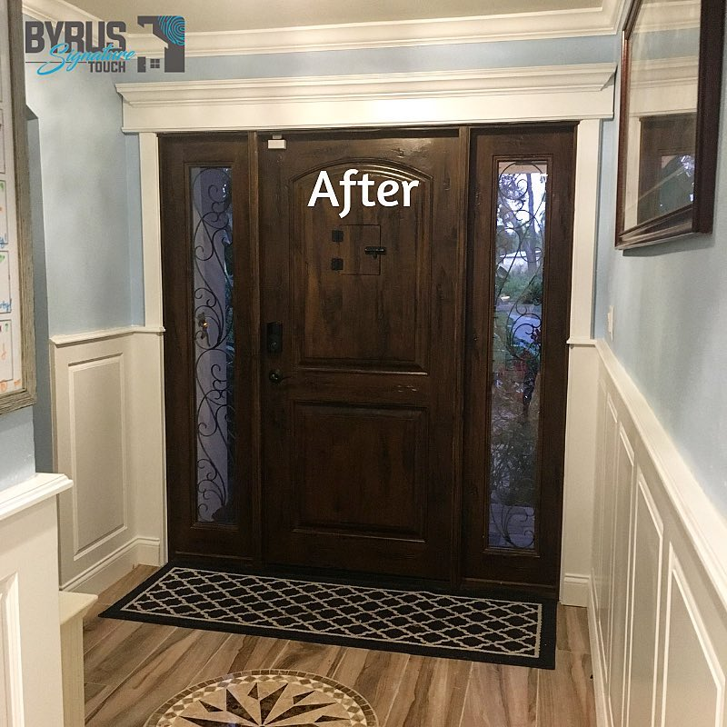 Paneled Wainscoting in the Hallway