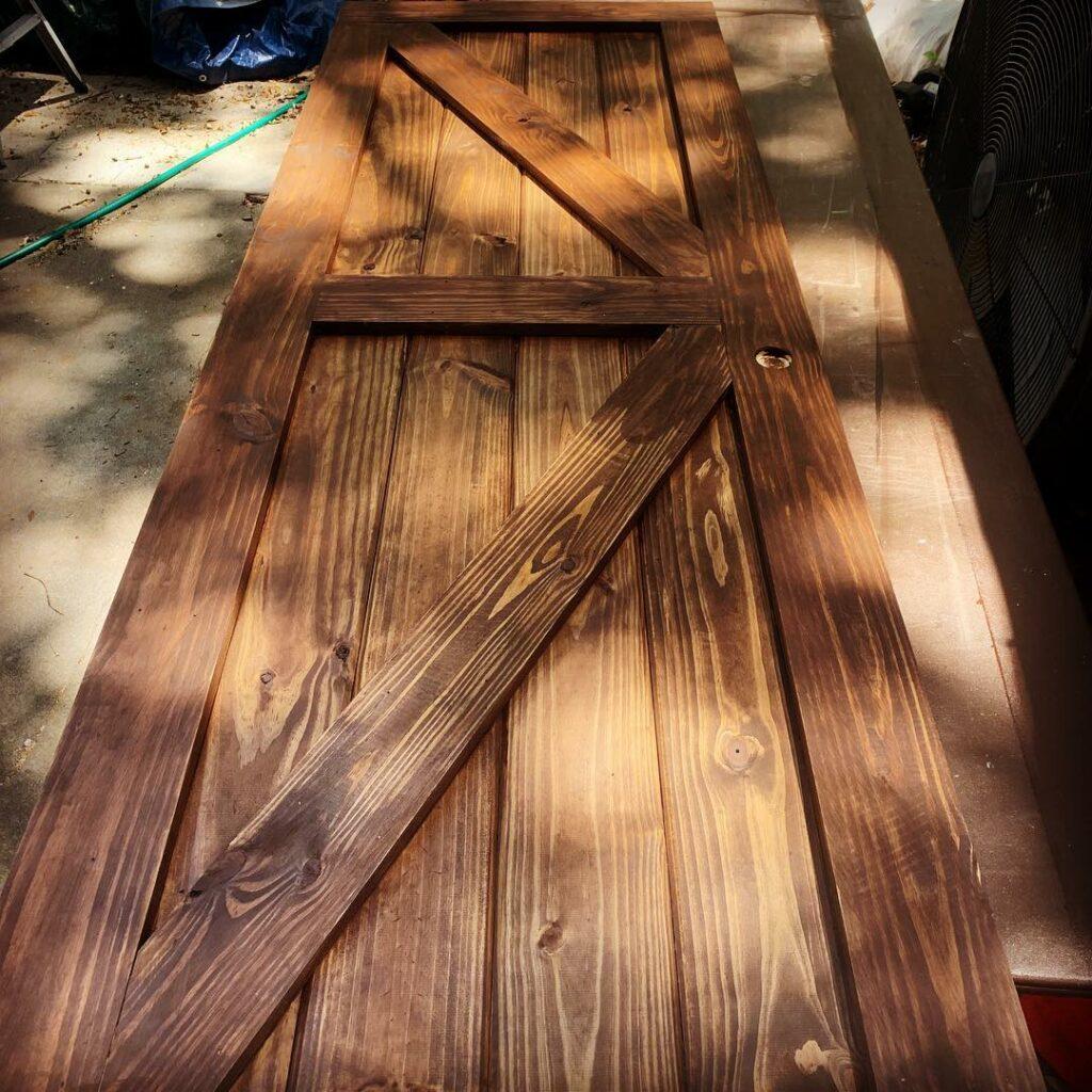 Rustic Barn Doors Stain