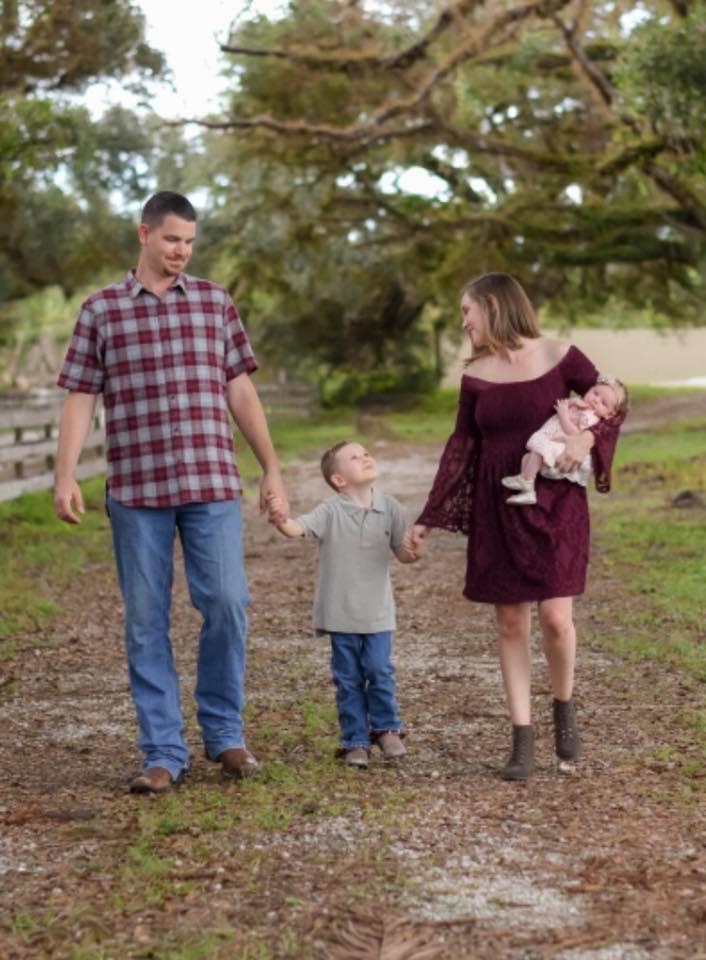 Family Photo at Horse Creek in Buckingham, FL